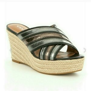 Coach Florentine Leather Espadrille Wedge Size 6.5